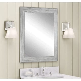 Multi Size BrandtWorks Barnwood Weathered Grey Wall Mirror