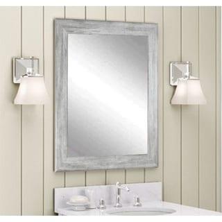 Multi Size BrandtWorks Barnwood Weathered Grey Wall Mirror
