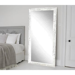 The Gray Barn Wilset Distressed Aged White Floor Mirror