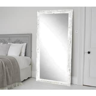BrandtWorks American Barnwood Distressed Aged White Floor Mirror - White/Grey|https://ak1.ostkcdn.com/images/products/14708575/P21239198.jpg?impolicy=medium