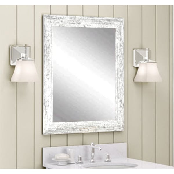The Gray Barn Wilset Distressed White Wall Mirror