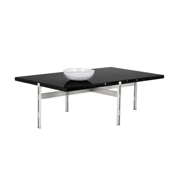 Shop Enzo Modern Black Marble Coffee Table Free Shipping Today
