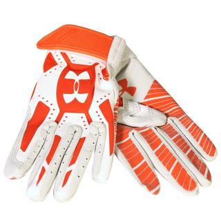 Under Armour Boys' Motive Orange/White Youth Batting Gloves