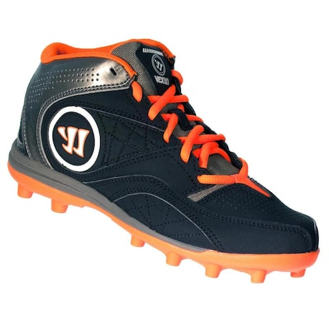 Warrior Kids WJVEX2BO Black Graphite/Orange Junior Lacrosse Cleat Shoes