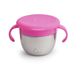 Munchkin Pink Snack+ Stainless Steel Snack Catcher