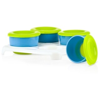 Nuby Blue/Green Garden Fresh Pop Up Food Freezer Pots