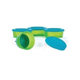 Nuby Green and Blue Plastic Garden-fresh Pop-up Food Freezer Pots