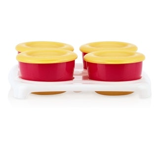 Nuby Red and Yellow Garden Fresh Pop-up Food Freezer Pots