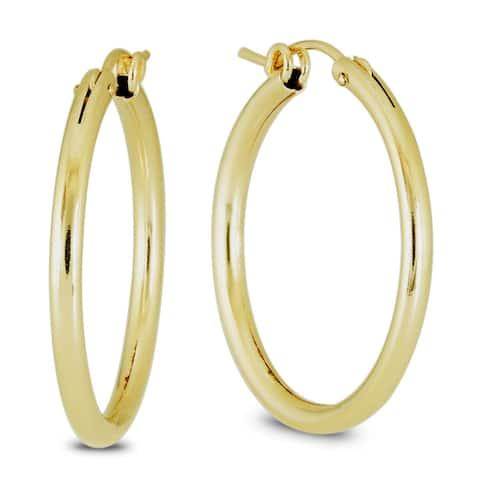 Marquee Jewels 14k Yellow Gold Filled Hoop Earrings (27 MM)