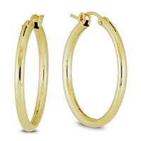 Marquee Jewels 14k Yellow Gold Filled Hoop Earrings (27 MM)