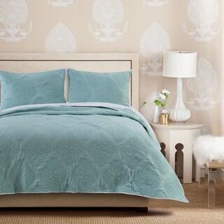Cameo Aqua Haze Coverlet Quilt Set