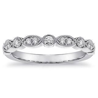14k Gold 1/3ct TDW White Diamond Bezel and Pave Set Milgrain Ring|https://ak1.ostkcdn.com/images/products/14708858/P21239440.jpg?impolicy=medium