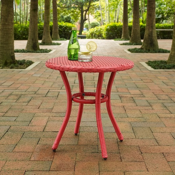 Shop Palm Harbor Outdoor Wicker Round Side Table On Sale