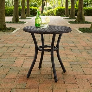 Palm Harbor Outdoor Wicker Round Side Table