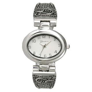 Olivia Pratt Women's Swirls and Diamond Shapes Bangle Watch One Size