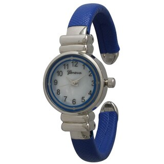 Olivia Pratt Petite Leather Round Face Cuff Watch