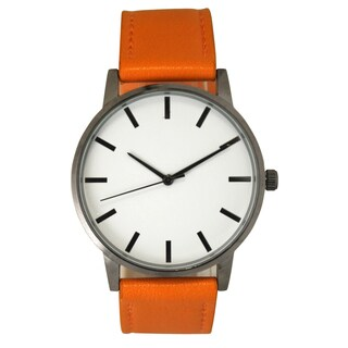 Olivia Pratt Women's Simple and Modern Leather Watch One Size (Option: Orange)