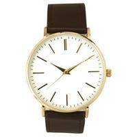 Olivia Pratt Women's Simple Stick Hour Marker Leather Watch One Size