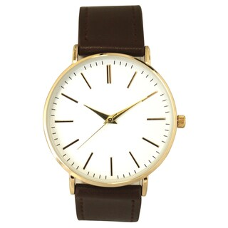 Olivia Pratt Women's Simple Stick Hour Marker Leather Watch One Size (3 options available)