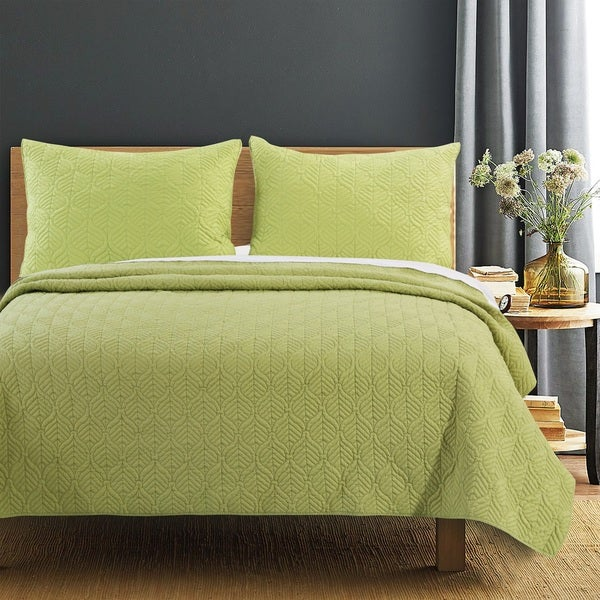 Shop Piper Green Quilt Set Free Shipping Today