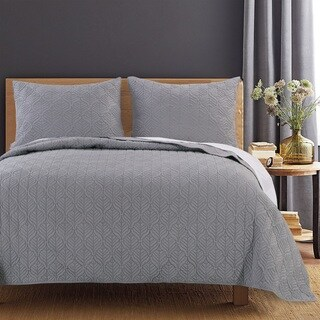 Piper Moonlight Grey Quilt Set