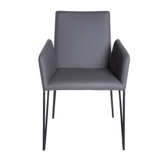 Euro Style Amir Grey Arm Chair