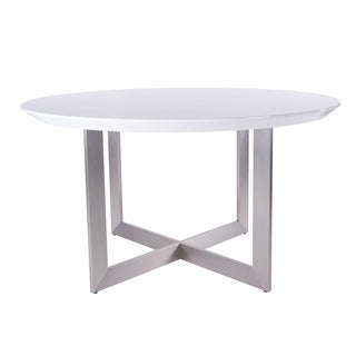 Tosca 54-inch Round Dining Table - White