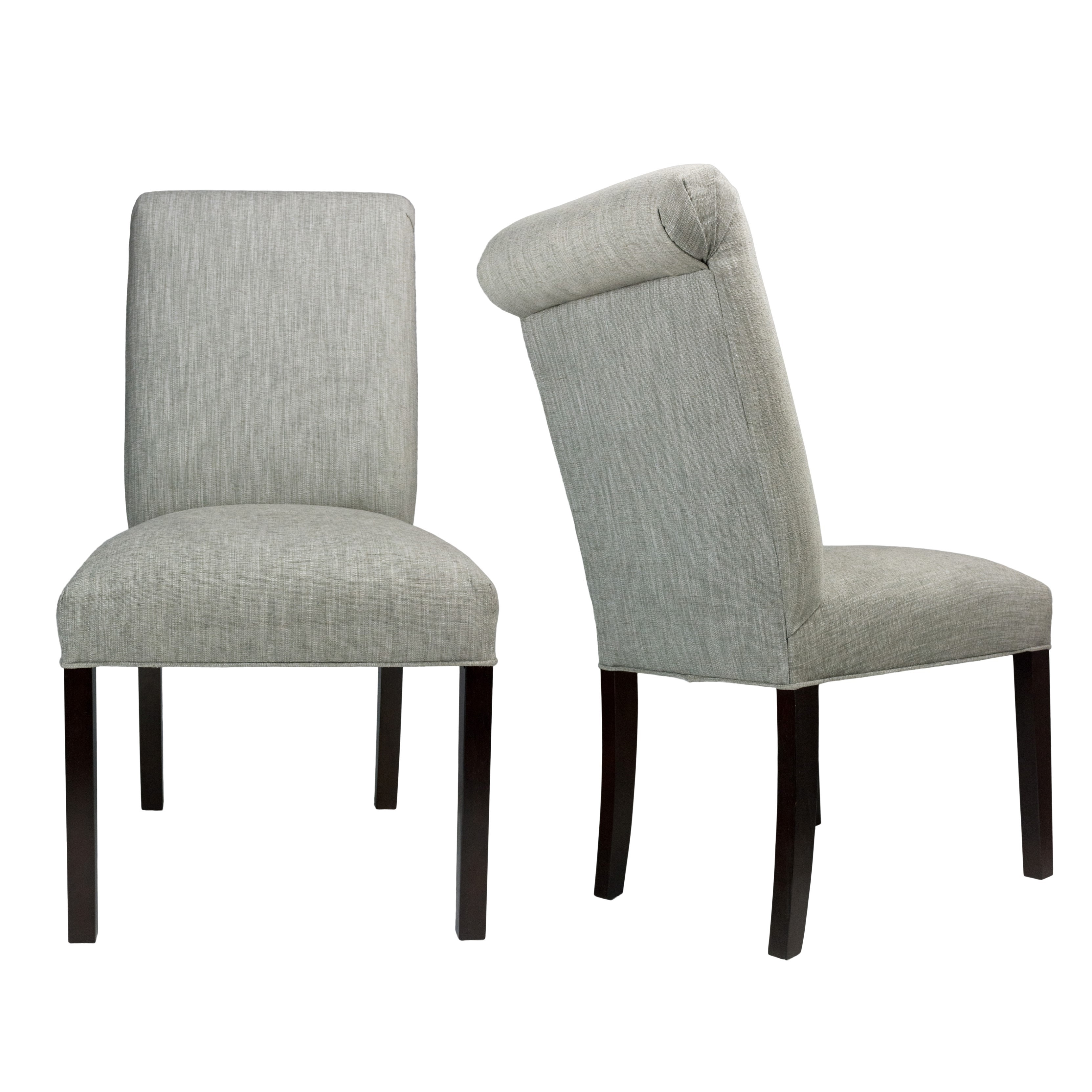 Details About SL3007 Lucky DENIM Spring Seating Double Dow Roll Back  Upholstered Dining Chairs