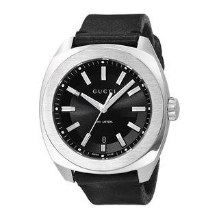 Gucci Men's YA142206 'GG2570 XL' Black Leather Watch