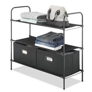 Whitmor Closet Organizer Collection Black 3 -tier Shelves
