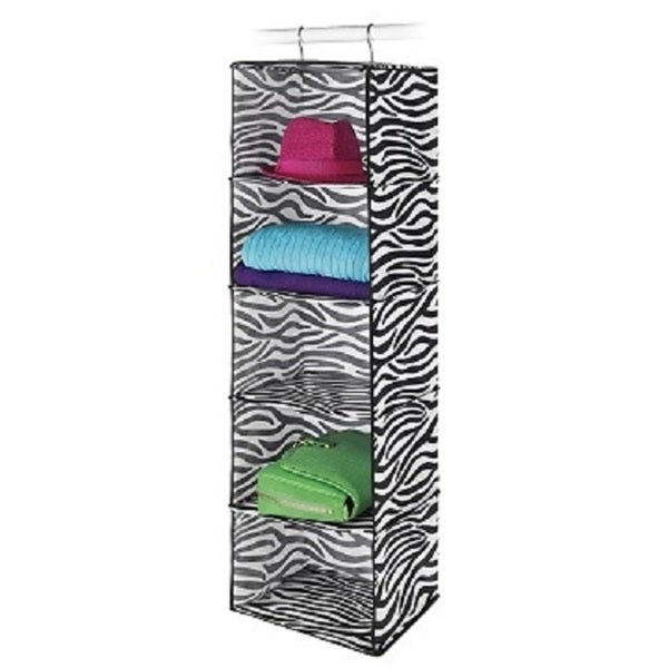 Shop Whitmor Zebra Print Hanging Accessory Shelves