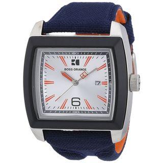 Hugo Boss Men's 1512602 Blue Stainless Steel Watch