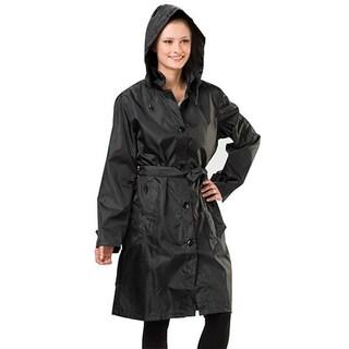 3330f859793 ... Raincoat Waterproof Hooded Windbreaker Outdoor Jacket  Clothing. Sporto Women s  Black Lightweight Packable Rain Ja.