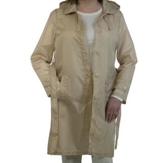 Sporto Women's Khaki Lightweight Packable Rain Jacket