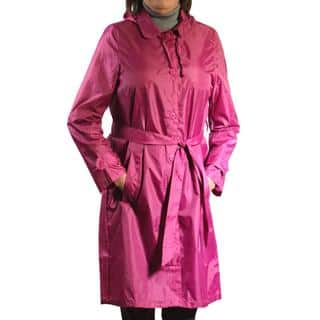 Sporto Women's Fuchsia Lightweight Packable Rain Jacket|https://ak1.ostkcdn.com/images/products/14709198/P21239733.jpg?impolicy=medium