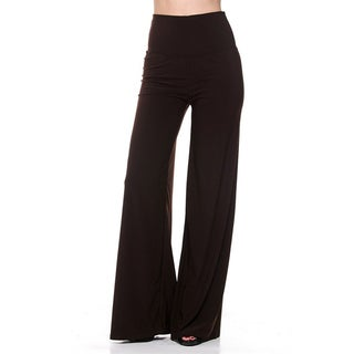 JED Women's Poly/Spandex High-waisted Stretchy Ultra Flare Palazzo Pants