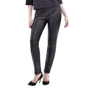Bluberry Denim Women's Black Straight-leg Pants