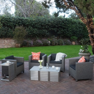 Puerta Outdoor 8-piece Seating Set with Cushions by Christopher Knight Home