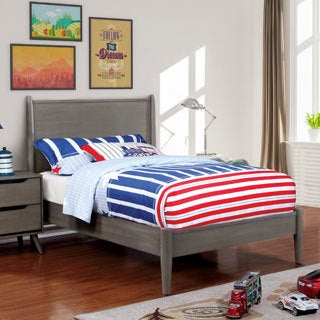 Furniture of America Corrine II Mid-Century Modern Wooden Platform Bed