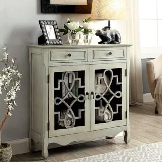Furniture of America Bellen Antique Light Grey 2-shelf Storage Cabinet