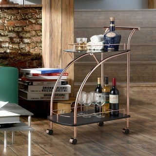 Link to Silver Orchid O'Fredericks Mirrored Rose Gold Serving Cart Similar Items in Home Bars