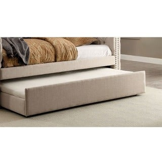 Furniture of America Bailey Contemporary Ivory Linen-like Twin-size Trundle