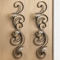 Apta Curling Candle Wall Sconces (Set of 2)