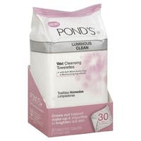 Pond's Luminous Clean 30-count Wet Cleansing Towelettes (Pack of 3)