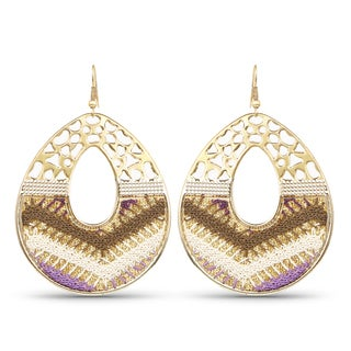 Liliana Bella Gold Plated Handcrafted Dangle Earrings