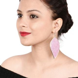Liliana Bella Pink Leaf Shape Fashion Dangle Earrings