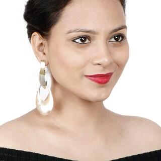 Liliana Bella Contemporary Tri-color Teardrop Dangle Earrings
