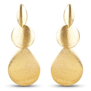 Liliana Bella Contemporary Gold Plated Dangle Earrings