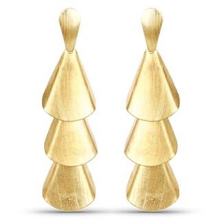 Liliana Bella Contemporary Gold Plated Dangle Earrings