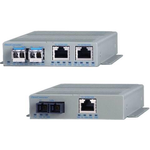 Omnitron Systems OmniConverter GPoE+/S Industrial Media Converter